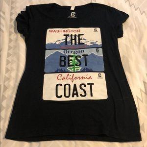 """The Best Coast"" OR/CA/WA shirt"